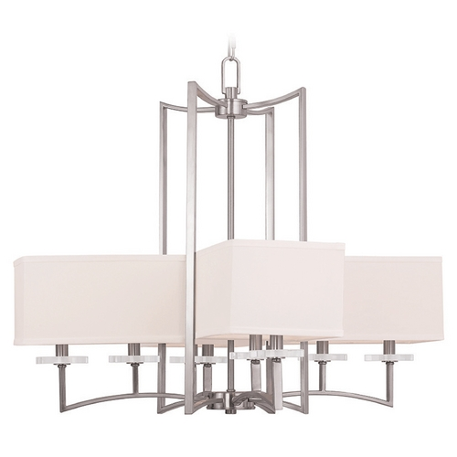 Livex Lighting Livex Lighting Woodland Park Brushed Nickel Chandelier 50708-91