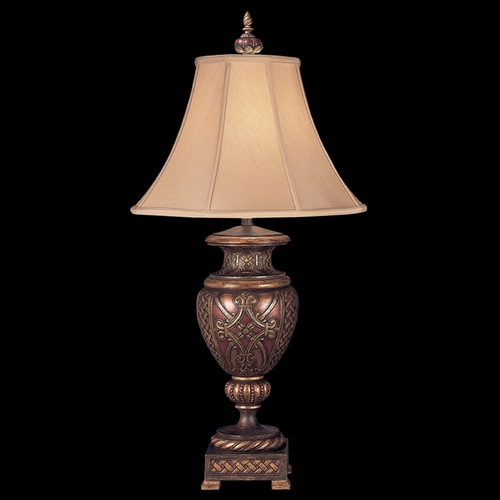 Fine Art Lamps Fine Art Lamps Villa 1919 Umber with Gilded Accents Table Lamp with Bell Shade 154310ST