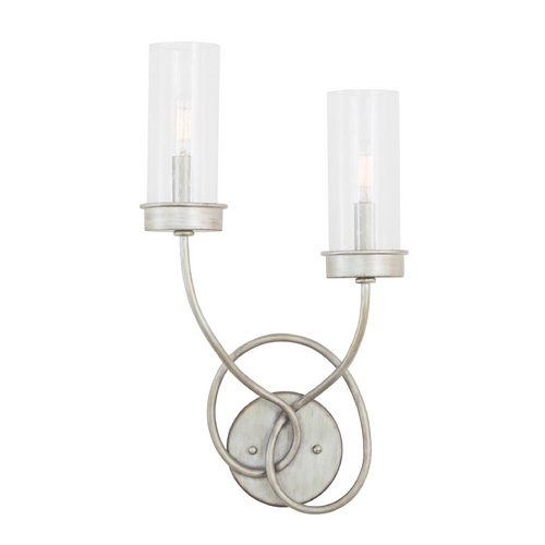 Kalco Lighting Kalco Lighting Concord Aged Silver Sconce 7477SV/1100