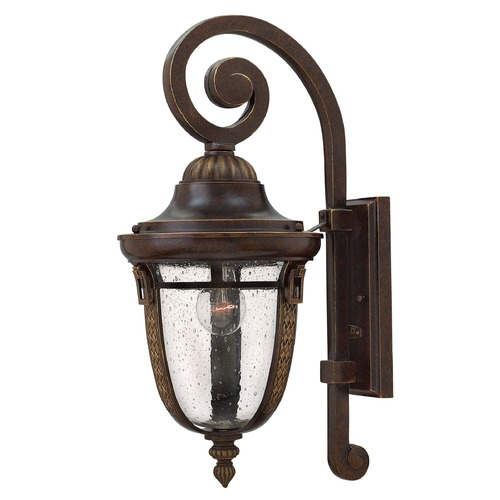 Hinkley Lighting Seeded Glass Outdoor Wall Light Bronze Hinkley Lighting 2904RB-GU24