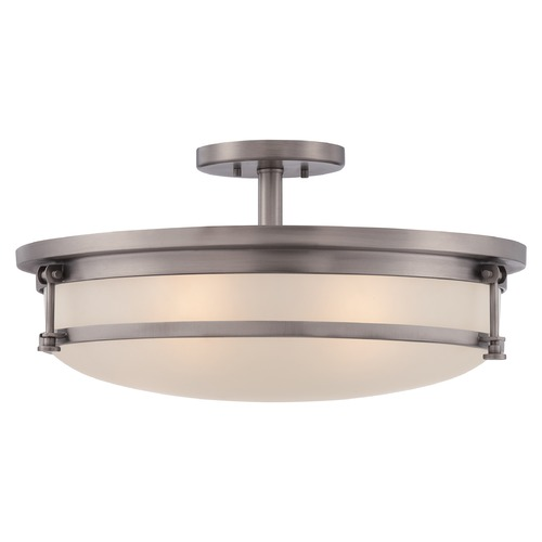 Quoizel Lighting Quoizel Sailor Antique Nickel Semi-Flushmount Light SLR1720AN