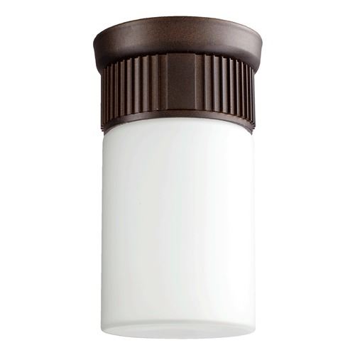 Quorum Lighting Quorum Lighting Manhattan Oiled Bronze Close To Ceiling Light 356-86
