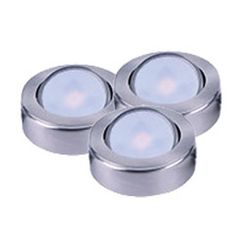 Maxim Lighting 120V LED Puck Light Recessed / Surface Mount 3000K Satin Nickel by Maxim Lighting 53836SN