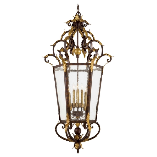 Metropolitan Lighting Pendant Light with Clear Glass in Golden Bronze Finish N3639-355