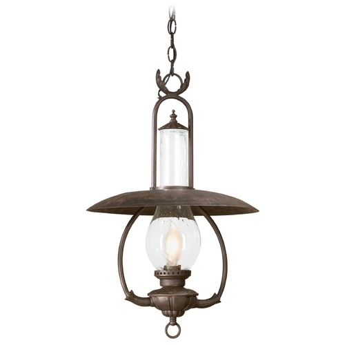 Troy Lighting Seeded Glass Outdoor Hanging Light Bronze Troy Lighting FCD9013OBZ