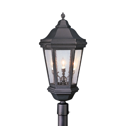Troy Lighting Post Light with Clear Glass in Bronze Patina Finish PFCD6835BZP