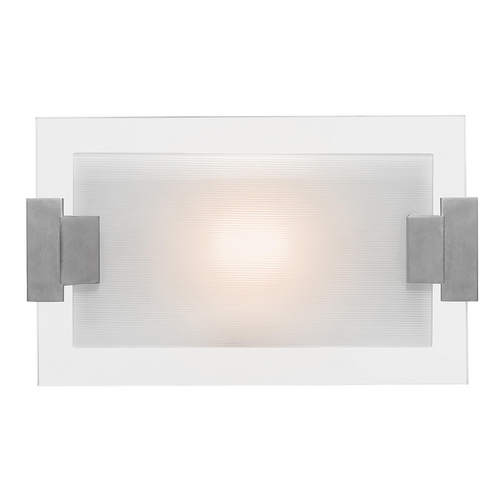 Access Lighting Modern Bathroom Light with White Glass in Brushed Steel Finish 62255-BS/FST