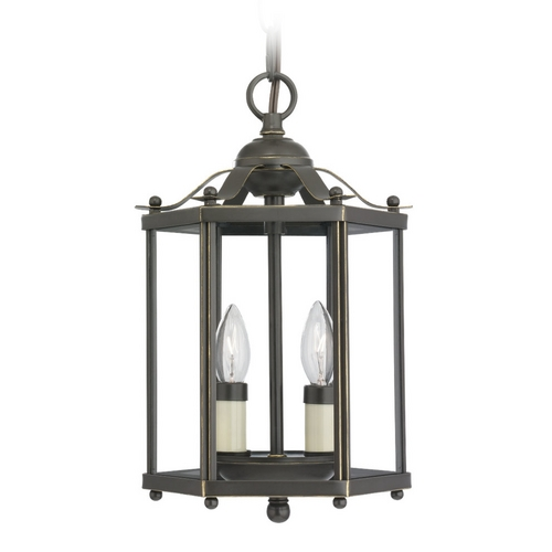 Sea Gull Lighting Mini-Pendant Light with Clear Glass in Heirloom Bronze Finish 5232-782