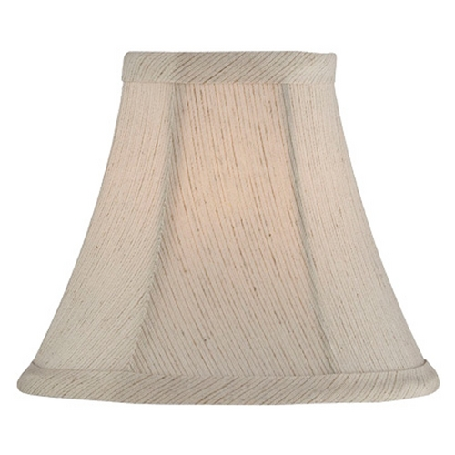 Lite Source Lighting Off White Bell Lamp Shade with Clip-On Assembly CH5228-6
