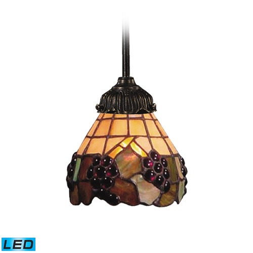 Elk Lighting Elk Lighting Mix-N-Match Tiffany Bronze LED Mini-Pendant Light with Bowl / Dome Shade 078-TB-07-LED