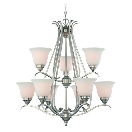 Jeremiah Lighting Jeremiah Mckinney Brushed Polished Nickel Chandelier 29029-BNK