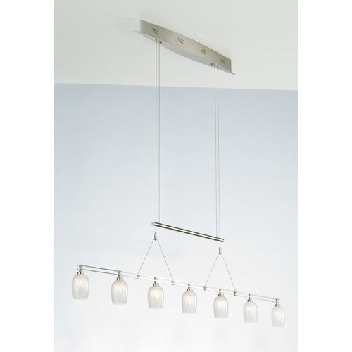 Holtkoetter Lighting Holtkoetter Modern Low Voltage Pendant Light in Satin Nickel Finish 5517 SN G5035
