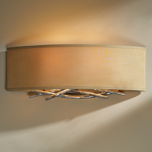 Hubbardton Forge Lighting Hubbardton Forge Lighting Brindille Vintage Platinum Sconce 207663-82-594