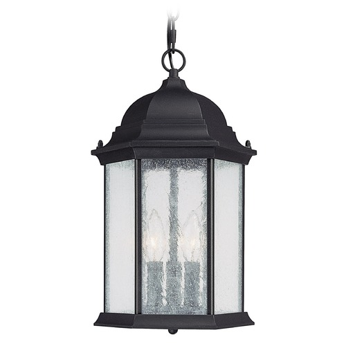 Capital Lighting Capital Lighting Main Street Black Outdoor Hanging Light 9836BK