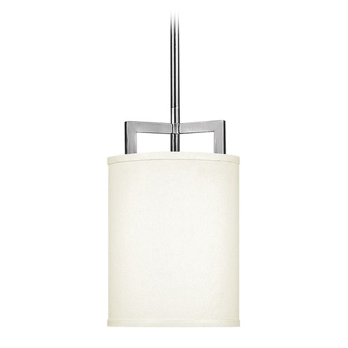 Hinkley Lighting Hinkley Lighting Hampton Antique Nickel LED Mini-Pendant Light with Drum Shade 3207AN-LED