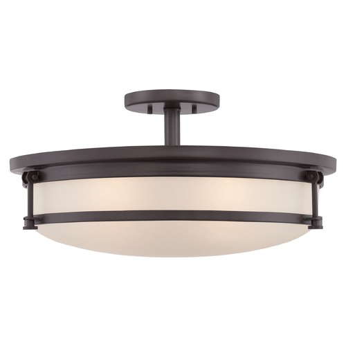 Quoizel Lighting Quoizel Sailor Western Bronze Semi-Flushmount Light SLR1720WT