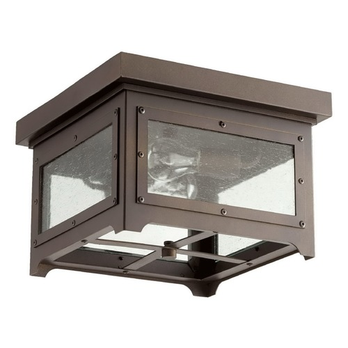 Quorum Lighting Quorum Lighting Riverdale Oiled Bronze Close To Ceiling Light 357-13-86