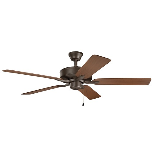 Kichler Lighting Basics Pro Patio Satin Natural Bronze 52-Inch Ceiling Fan without Light 330015SNB