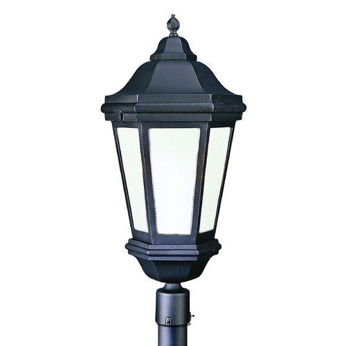 Troy Lighting Post Light with Clear Glass in Matte Black Finish PFCD6835MB