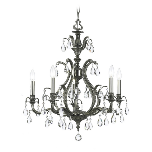 Crystorama Lighting Crystal Chandelier in Pewter Finish 5565-PW-CL-MWP