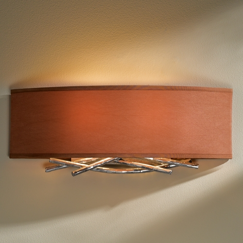 Hubbardton Forge Lighting Hubbardton Forge Lighting Brindille Vintage Platinum Sconce 207663-82-595