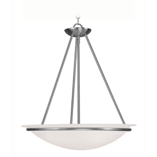 Livex Lighting Livex Lighting Newburgh Brushed Nickel Pendant Light 4826-91