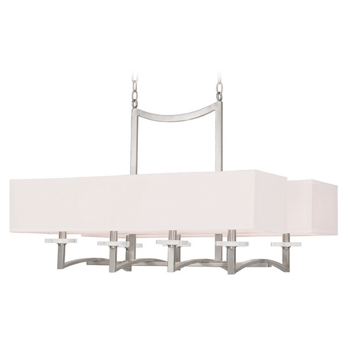 Livex Lighting Livex Lighting Woodland Park Brushed Nickel Chandelier 50709-91