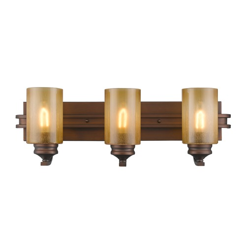 Golden Lighting Golden Lighting Hidalgo Sovereign Bronze Bathroom Light 1051-BA3 SBZ