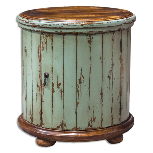 Uttermost Lighting Uttermost Axelle Wooden Drum Accent Table 25664