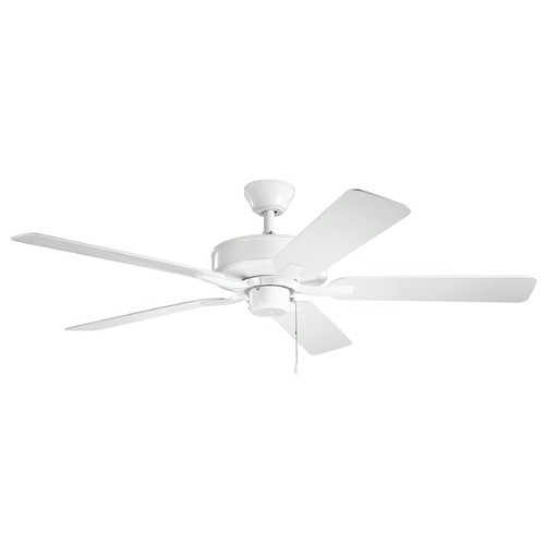 Kichler Lighting Basics Pro Patio White 52-Inch Ceiling Fan without Light 330015WH