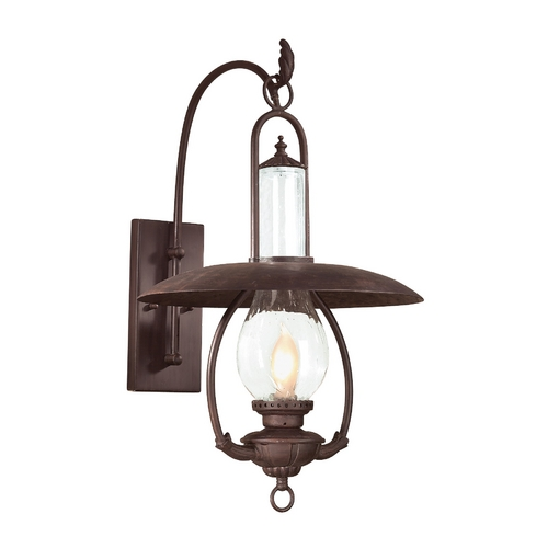 Troy Lighting Outdoor Wall Light with Clear Glass in Old Bronze Finish BCD9011OBZ