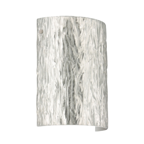 Besa Lighting Modern Sconce Wall Light with Silver Glass in Satin Nickel Finish 7090SF-SN