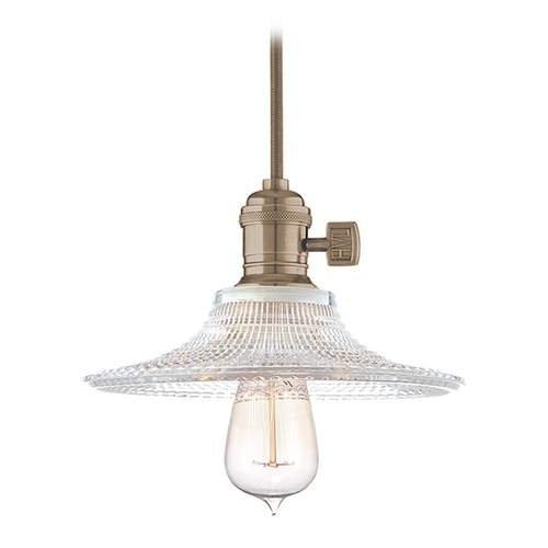 Hudson Valley Lighting Mini-Pendant Light with Brown Glass 8001-HN-GS6