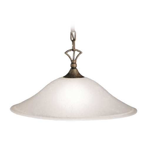 Kichler Lighting Kichler Pendant Light with White Glass in Tannery Bronze Finish 2702TZ