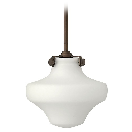Hinkley Lighting Mini-Pendant Light with White Glass 3134OZ