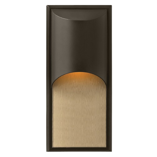 Hinkley Lighting Modern LED Outdoor Wall Light in Bronze Finish 1834BZ-LED