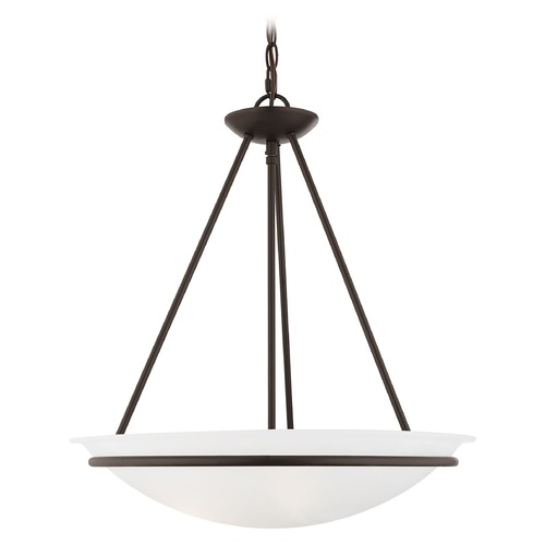 Livex Lighting Livex Lighting Newburgh Bronze Pendant Light with Bowl / Dome Shade 4826-07