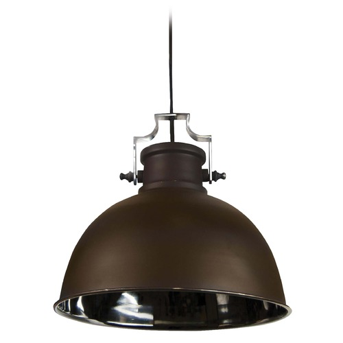 Kenroy Home Lighting Kenroy Home Lighting Nautilus Antique Bronze and Nickel Pendant Light 92065ABZNIK