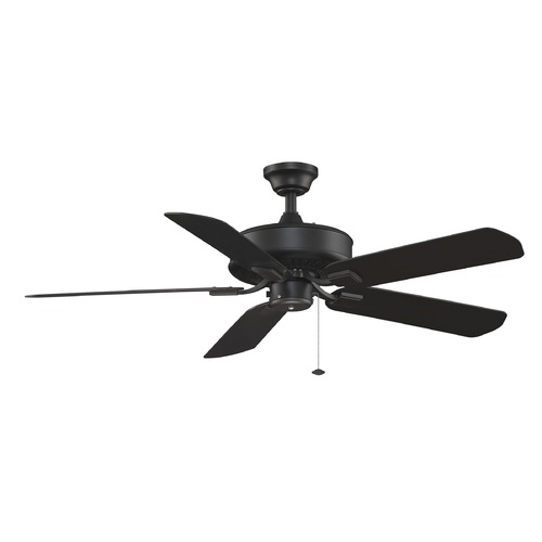 Fanimation Fans Fanimation Fans Edgewood Black Ceiling Fan Without Light TF910BL