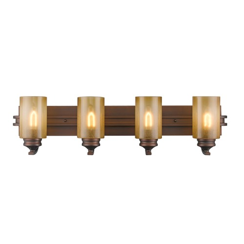 Golden Lighting Golden Lighting Hidalgo Sovereign Bronze Bathroom Light 1051-BA4 SBZ