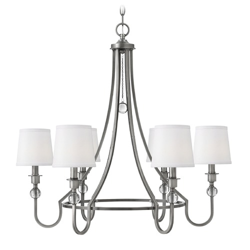 Hinkley Lighting Hinkley Morgan 6-Light Chandelier in Antique Nickel 4876AN