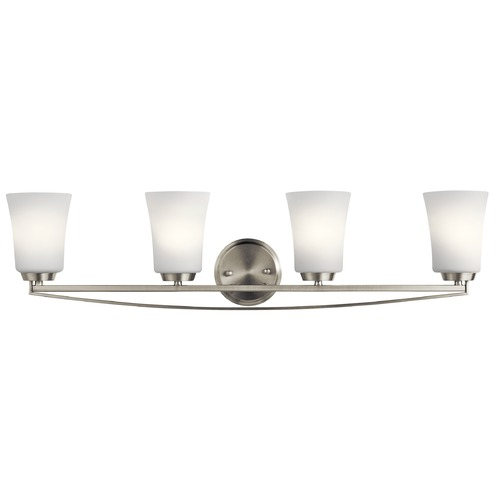 Kichler Lighting Transitional Bathroom Light Brushed Nickel Tao by Kichler Lighting 45891NI