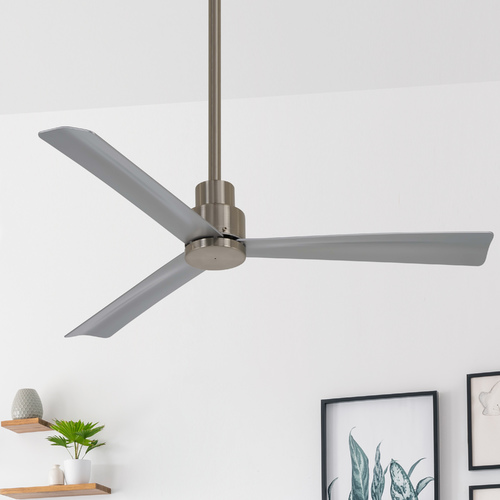 Minka Aire 44-Inch Minka Aire Simple Brushed Nickel Ceiling Fan Without Light F786-BNW