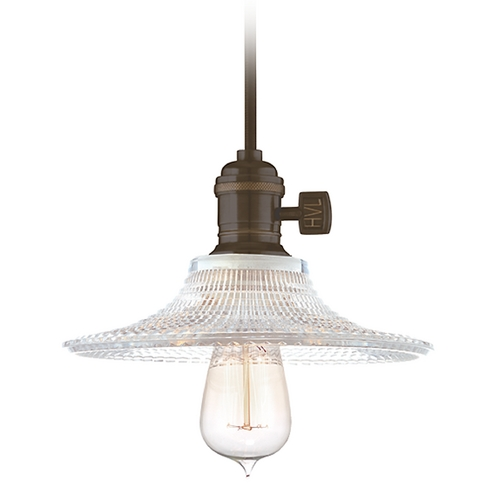 Hudson Valley Lighting Mini-Pendant Light with Brown Glass 8001-OB-GS6