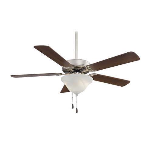 Minka Aire Ceiling Fan with Light with White Glass F648-BS