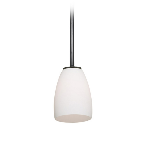 Access Lighting Modern Mini-Pendant Light with White Glass 28069-2R-ORB/OPL