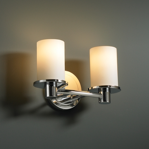 Justice Design Group Justice Design Group Fusion Collection Bathroom Light FSN-8512-10-OPAL-CROM