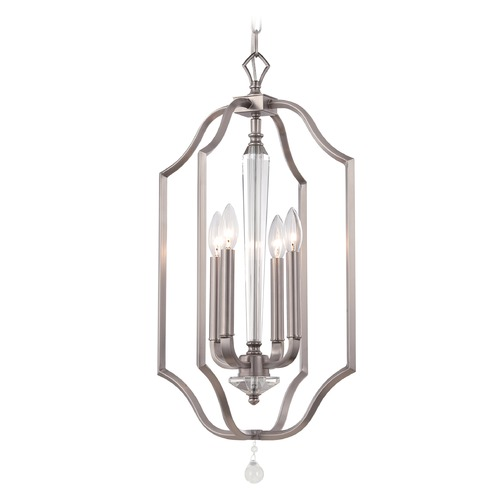 Crystorama Lighting Crystorama Lighting Hugo Pewter Pendant Light 2235-PW