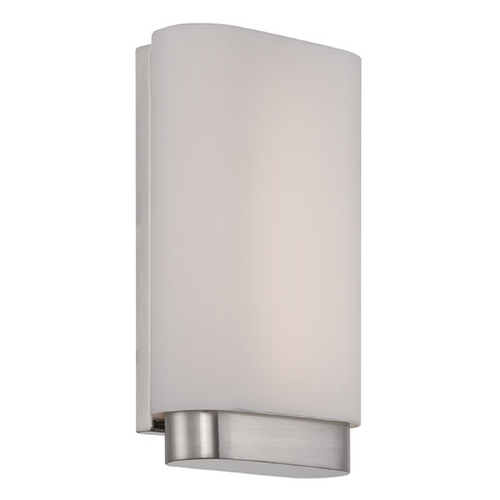 Modern Forms by WAC Lighting Modern Forms Vogue Brushed Nickel LED Sconce WS-2909-BN