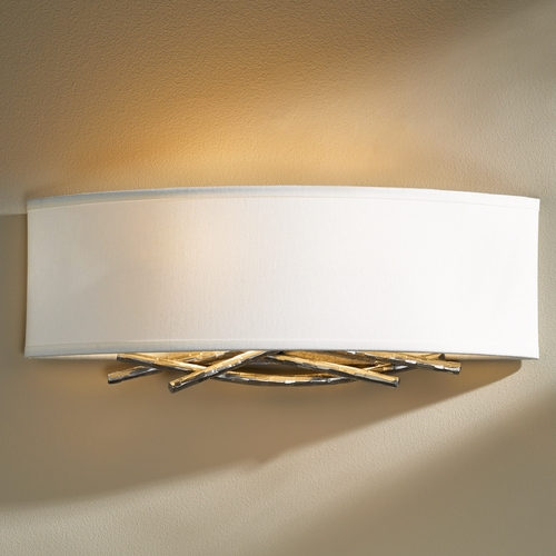 Hubbardton Forge Lighting Hubbardton Forge Lighting Brindille Vintage Platinum Sconce 207663-82-597